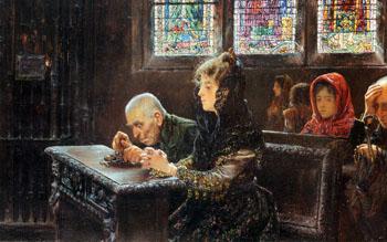 El Rosario 1902 - Jose Gallegos y Arnosa reproduction oil painting