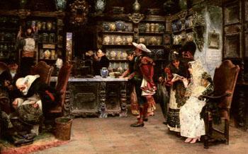 La Botica - Jose Gallegos y Arnosa reproduction oil painting