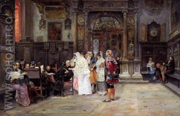 The Wedding Day 1889 - Jose Gallegos y Arnosa reproduction oil painting