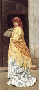 The Yellow Shawl 1881 - Jose Gallegos y Arnosa