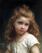 Portrait of a Young Girl 1902 - Jules Cyrille Cave reproduction oil painting