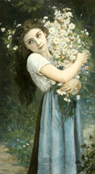 The Flower Girl - Jules Cyrille Cave reproduction oil painting