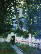Churchyard in 1905 - Konstantin Yakovlevich Kryzhitsky reproduction oil painting