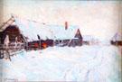 Russian Village in Winter - Konstantin Yakovlevich Kryzhitsky