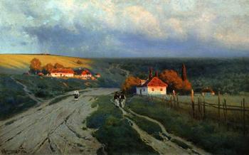 The Evening on Ukraine 1901 - Konstantin Yakovlevich Kryzhitsky reproduction oil painting
