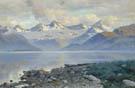 The Lake in Mountains - Konstantin Yakovlevich Kryzhitsky