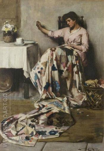 The Patchwork Quilt - Lance Calkin reproduction oil painting