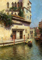 A Venetian Backwater - Rubens Santoro reproduction oil painting