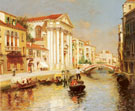 A Venetian Canal - Rubens Santoro reproduction oil painting