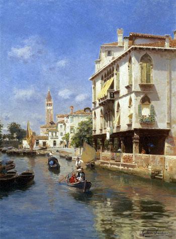Canale Della Guerra Venice - Rubens Santoro reproduction oil painting