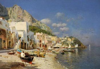 Capri Italy - Rubens Santoro reproduction oil painting