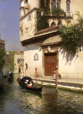 Palazzo Contarni Venice - Rubens Santoro reproduction oil painting