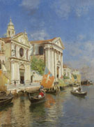 S Maria Della Visitazione and S Maria Del Rosario Venice - Rubens Santoro reproduction oil painting