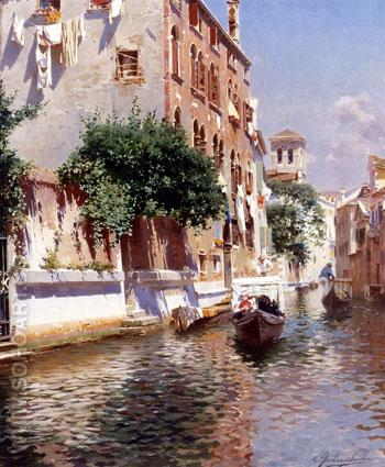 St Apostoli Canal Venice - Rubens Santoro reproduction oil painting