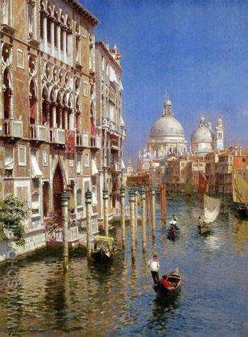 The Grand Canal Venice A - Rubens Santoro reproduction oil painting
