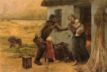 Le Foyer - Virginie Demont Breton reproduction oil painting