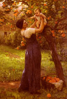 Mere Et Enfant Dans Le Jardin - Virginie Demont Breton reproduction oil painting