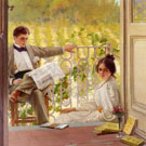 An Afternoon On The Porch c1895 - Vittorio Matteo Corcos