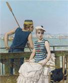 At The Regatta 1889 - Vittorio Matteo Corcos
