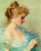 He Loves Me He Loves Me Not - Vittorio Matteo Corcos reproduction oil painting