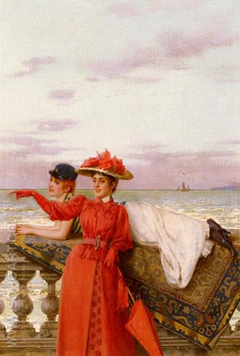 Looking Out To Sea - Vittorio Matteo Corcos reproduction oil painting
