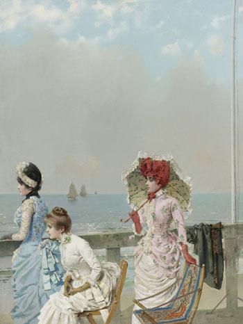 Mezzogorno Al Mare 1884 - Vittorio Matteo Corcos reproduction oil painting
