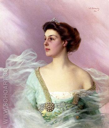 Portrait of A Lady 1911 - Vittorio Matteo Corcos reproduction oil painting
