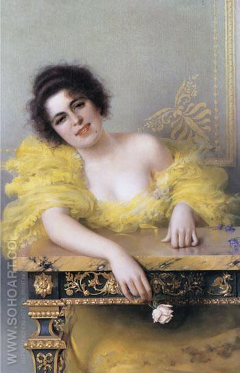 Portrait of A Young Woman 1896 - Vittorio Matteo Corcos reproduction oil painting