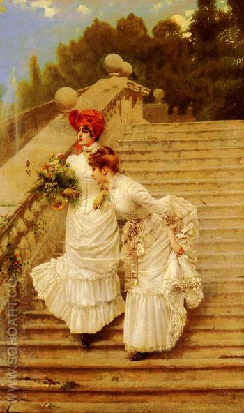 The Rendezvous 1888 - Vittorio Matteo Corcos reproduction oil painting