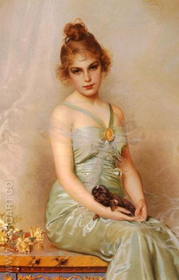 The Wounded Puppy 1899 - Vittorio Matteo Corcos reproduction oil painting