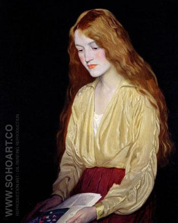 Cynthia 1917 - William Strang reproduction oil painting