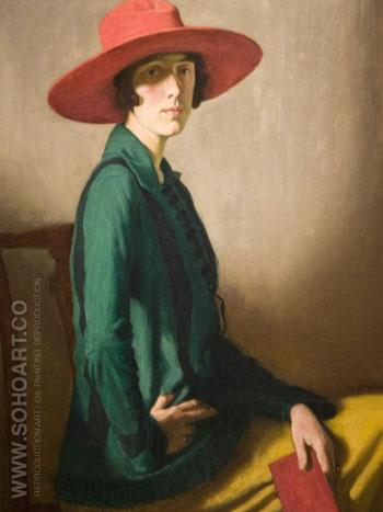Lady with A Red Hat - William Strang reproduction oil painting