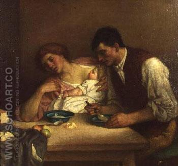 Suppertime - William Strang reproduction oil painting