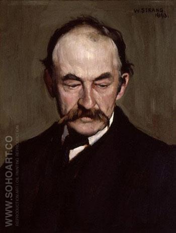 Thomas Hardy 1893 - William Strang reproduction oil painting