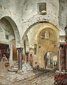 The Souk des Etoffes Tunis - Rudolph Gustav Muller
