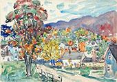 Autumn View c1910 - Maurice Prendergast