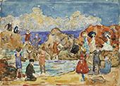 Bathers St Malo c1907 - Maurice Prendergast