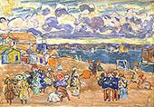 Beach at Saint Malo 1907 - Maurice Prendergast