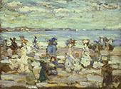 Beach Scene c1907 - Maurice Prendergast