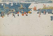 Beach Scene with Boats c1894 - Maurice Prendergast