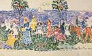 Decorative Composition Study for Promenade c1913 - Maurice Prendergast