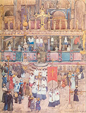 Easter Procession St Marks c1898 - Maurice Prendergast reproduction oil painting