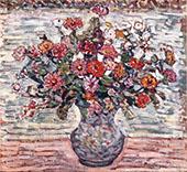 Flowers in a Vase Zinnias - Maurice Prendergast