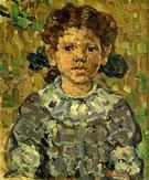 Girl in Blue c1912 - Maurice Prendergast