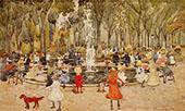 In Central Park New York c1900 - Maurice Prendergast