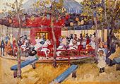 Merry Go Round Nahant 1900 - Maurice Prendergast