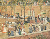 Monte Pincio Rome c1898 - Maurice Prendergast reproduction oil painting