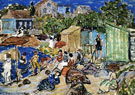 Painting of a Beach Scene c1890 - Maurice Prendergast