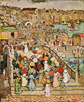 Ponte Della Paglia c1898 - Maurice Prendergast