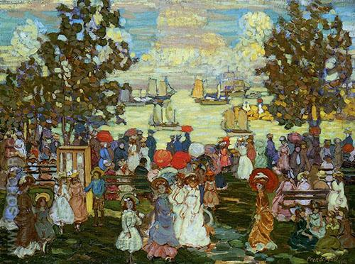 Salem Willows 1904 - Maurice Prendergast reproduction oil painting